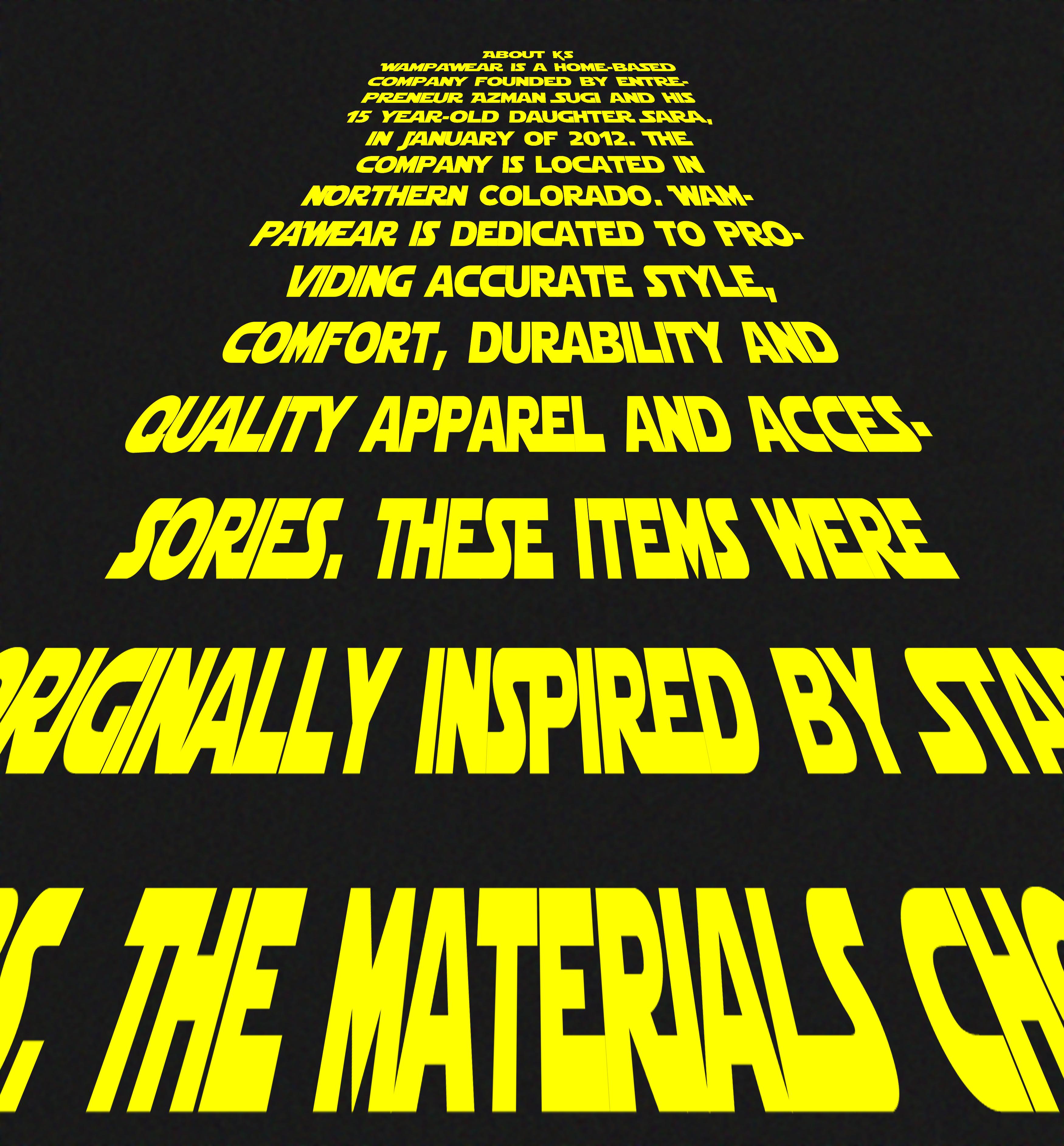 star wars crawl – Wampawear